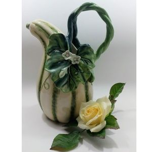 """Fitz and Floyd Caprese Market Gourd Pitcher 11"""" H"""